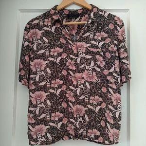 Floral button down shirt by Urban Outfitters